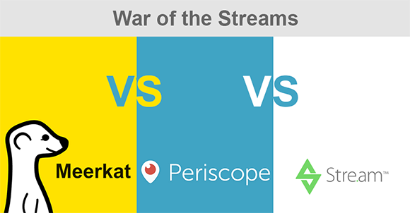 Meerkat vs Periscope vs Stre.am - War of the streams just got hotter!