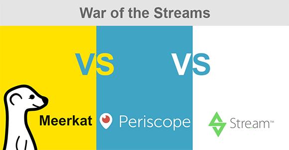 Meerkat vs Periscope vs Stre.am - War of the streams just got hotter!