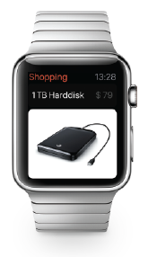 Apple Watch with Shopping Update