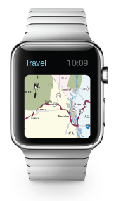 Apple Watch with Travel Update