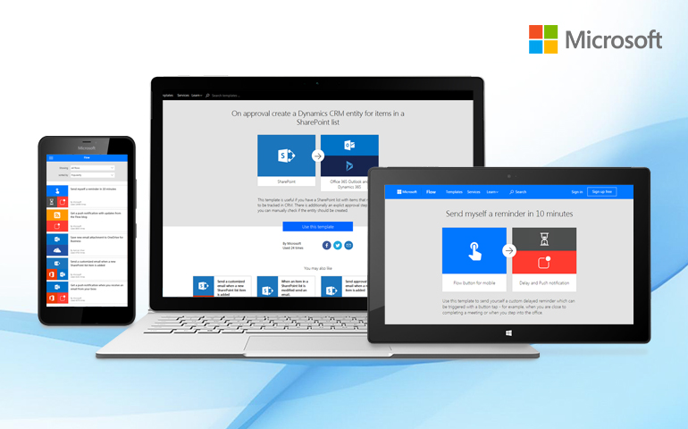 Microsoft Flow – Automate your repetitive tasks and business processes effortlessly