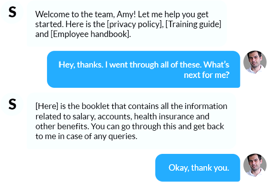 Making new employees feel comfortable with bot-driven onboarding