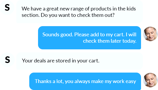 Assist and give intelligent product recommendations
