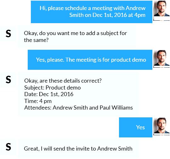 Schedule meetings in no time