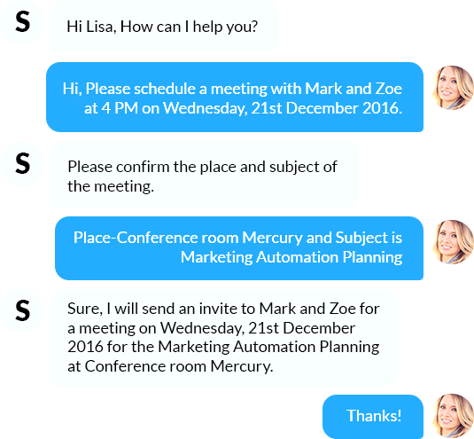 Quickest way to schedule a meeting