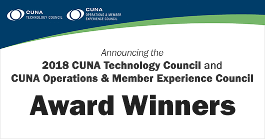 Winner of CUNA Technology Council's 2018 Excellence Award
