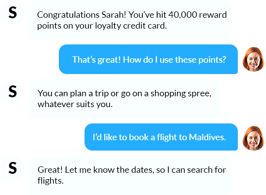 Reward customers through offers and loyalty points